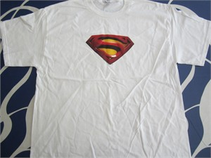 Superman Returns movie white promotional T-shirt NEW