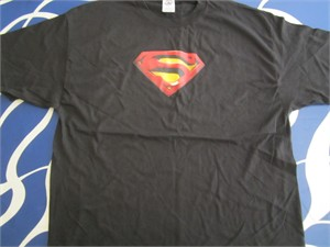 Superman Returns movie black promotional T-shirt NEW