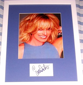 Susan Anton autograph matted & framed with 8x10 photo