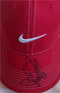 Suzann Pettersen autographed Nike golf cap or hat