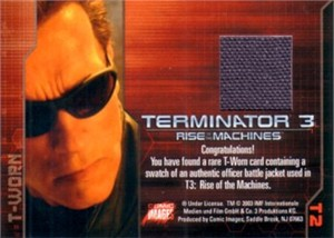 Terminator 3 Rise of the Machines T-Worn Battle Jacket 2003 Comic Images card #T2
