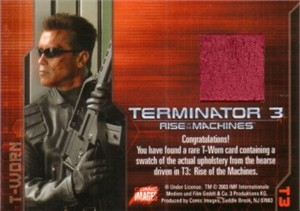 Terminator 3 Rise of the Machines T-Worn hearse upholstery 2003 Comic Images card #T3