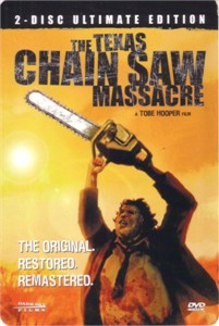 Texas Chain Saw Massacre DVD 4x6 promo card