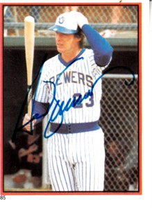 Ted Simmons autographed Milwaukee Brewers 1983 Topps sticker