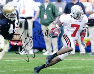 Ted Ginn Jr. autographed Ohio State Buckeyes 8x10 photo