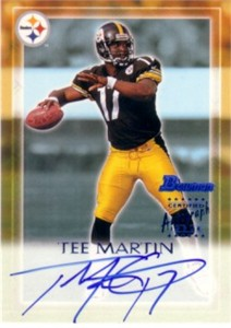 Tee Martin certified autograph Pittsburgh Steelers 2000 Bowman card