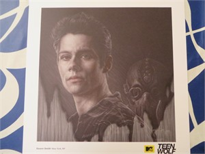 Teen Wolf 2015 Comic-Con artwork 18x18 lithograph or poster (Stiles)