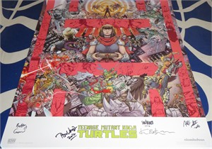 Teenage Mutant Ninja Turtles IDW comic book artists & creators autographed 2016 Comic-Con 20x28 poster (Kevin Eastman)