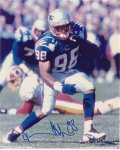 Terry Glenn autographed New England Patriots 8x10 photo