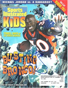 Terrell Davis autographed Denver Broncos 1998 Sports Illustrated