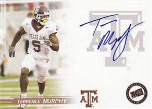 Terrence Murphy Texas A&M certified autograph 2005 Press Pass card