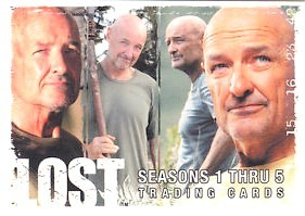 Terry O'Quinn (Locke) LOST 2009 Comic-Con promo card P4
