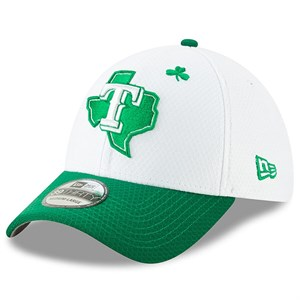 Texas Rangers 2019 St. Patrick's Day authentic New Era 39THIRTY cap or hat NEW