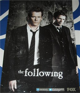 The Following 2012 Comic-Con mini 11x17 promo poster (Kevin Bacon)