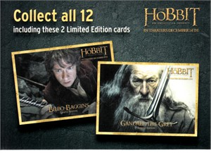The Hobbit 2012 Denny's Collect all 12 promo card