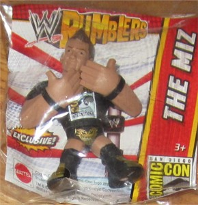 The Miz 2013 Comic-Con exclusive Mattel WWE Rumbler mini action figure MINT