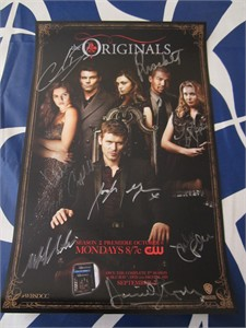 The Originals cast autographed 2014 Comic-Con poster (Charles Michael Davis Joseph Morgan Phoebe Tonkin)