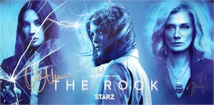 Olivia Munn Emma Greenwell Joely Richardson autographed The Rook 2019 Comic-Con poster