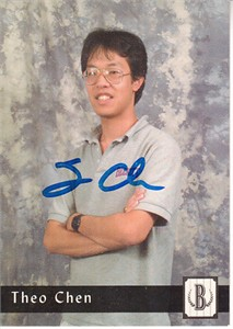 Theo Chen autographed 1993 Beckett Publications trading card