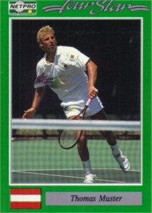 Thomas Muster 1991 Netpro Rookie Card