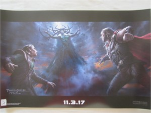 Thor Ragnarok 2017 Comic-Con exclusive Marvel mini 13x20 movie poster