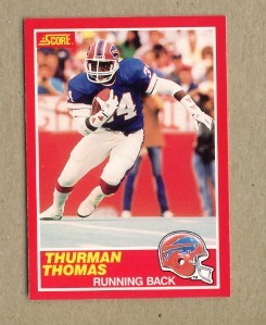 Thurman Thomas Bills 1989 Score Rookie Card NrMt-Mt