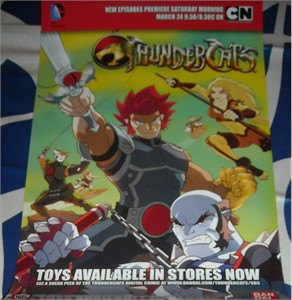 Thundercats 2012 promo 11x17 inch promo poster Cartoon Network Bandai Warner Brothers