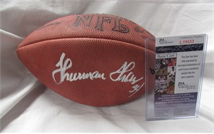Thurman Thomas autographed Wilson NFL game model football (JSA)