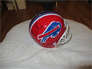 Thurman Thomas & James Lofton autographed Buffalo Bills mini helmet