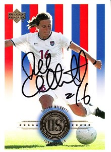 Tiffeny Milbrett autographed 1999 Women's World Cup Champions card