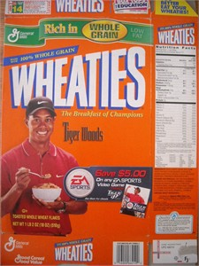 Tiger Woods 1999 Wheaties box (EA Sports offer)