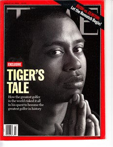 Tiger Woods 2000 Time magazine (newsstand copy with no label)