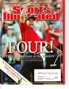 Tiger Woods 2005 Masters Sports Illustrated (no label)