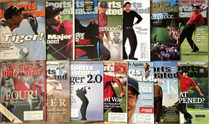 Tiger Woods lot of 14 different 1996-2016 Sports Illustrated magazine issues