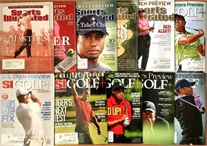 Tiger Woods lot of 11 different 2003-2014 Sports Illustrated Golf Plus magazine issues
