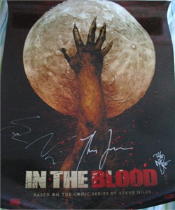 Tim Bradstreet Thomas Jane Steve Niles autographed In The Blood 2005 Comic-Con poster