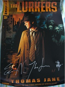 Tim Bradstreet Thomas Jane Steve Niles autographed The Lurkers 2005 Comic-Con poster
