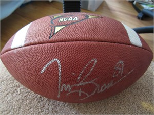 Tim Brown autographed Wilson NCAA leather football