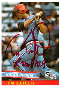 Tim Teufel autographed Minnesota Twins 1984 Donruss Rookie Card