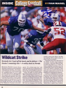 Tim Couch autographed Kentucky Wildcats Sports Illustrated photo