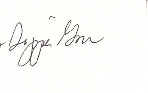 Tipper Gore autograph or cut signature