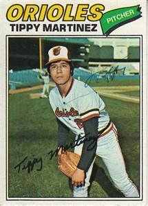 Tippy Martinez autographed Baltimore Orioles 1977 Topps card