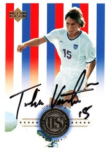 Tisha Venturini autographed 2000 U.S. Olympic Women's Soccer Team Upper Deck card