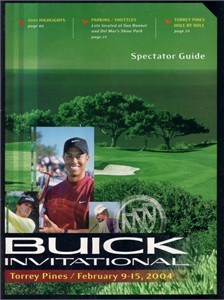 Tiger Woods 2004 Buick Invitational PGA Tour golf program