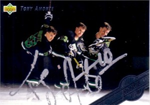 Tony Amonte autographed 1992-93 Upper Deck card