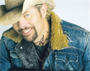 Toby Keith autographed 8x10 photo
