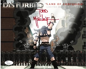 Todd McFarlane autographed Disturbed Land of Confusion 8x10 artwork print ltd edit 3000 (JSA)