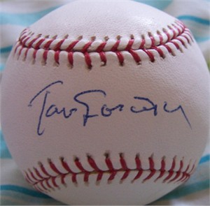 Tom Lasorda autographed MLB baseball