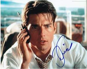 Tom Cruise autographed Jerry Maguire 8x10 photo