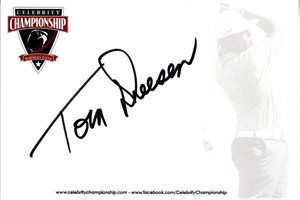 Tom Dreesen autographed 4x6 signature card